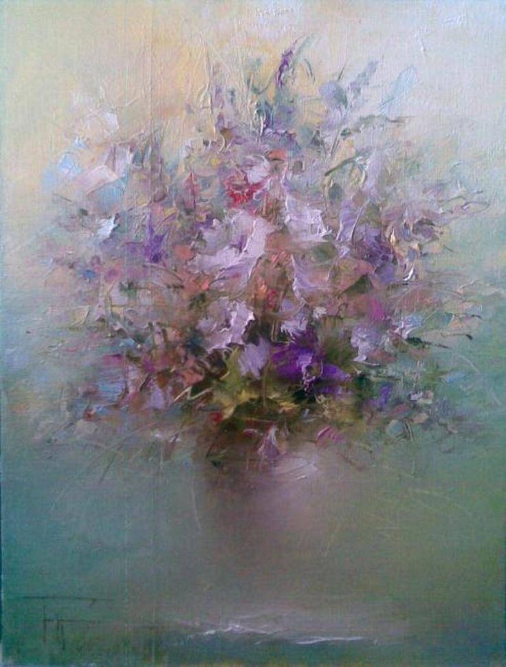 живопись маслом полевые цветы - mimege.ru