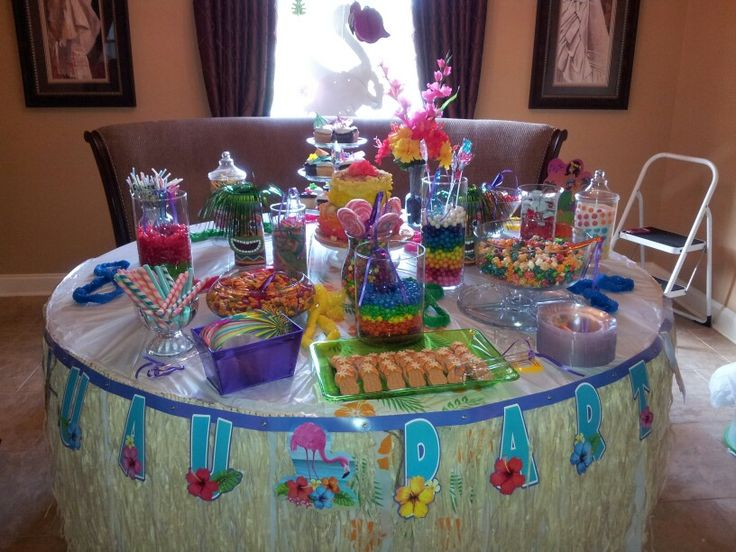 Luau Candy Buffet Misc Pinterest Luau Luau Party