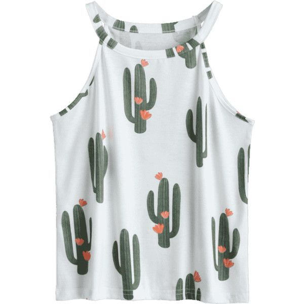 Shop for Cacti Print Round Neck Tank Top WHITE: Tank Tops XL at ZAFUL. Only $15.99 and free shipping!