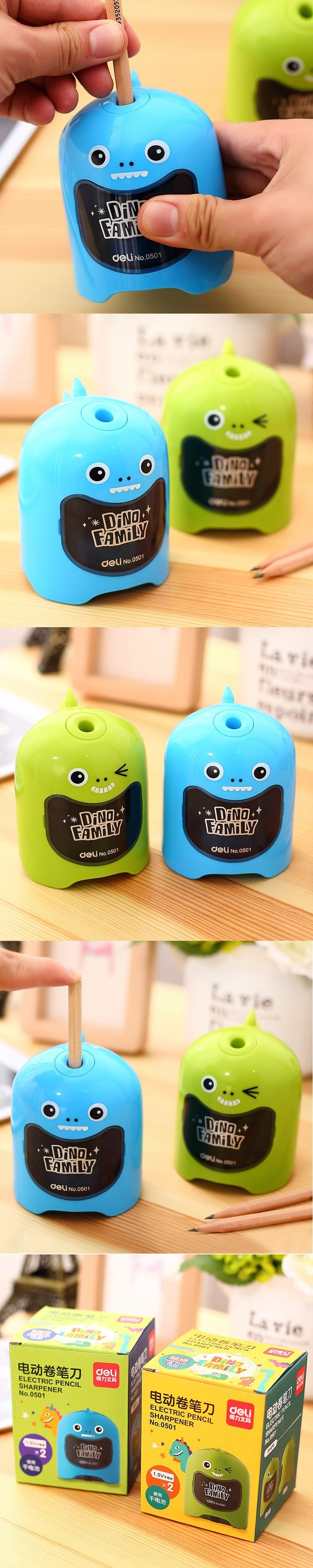 Pencil sharpener Electric Cute dinosaur styling electric pencil sharpener creative eyeliner sharpener Student suppliesstationery