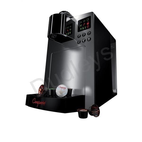 Campanini Capsule Coffee Machine 3.5 Litre Tank (Black/Silver)  www.Dudleysonline.co.uk #dudleys #onlinestationery