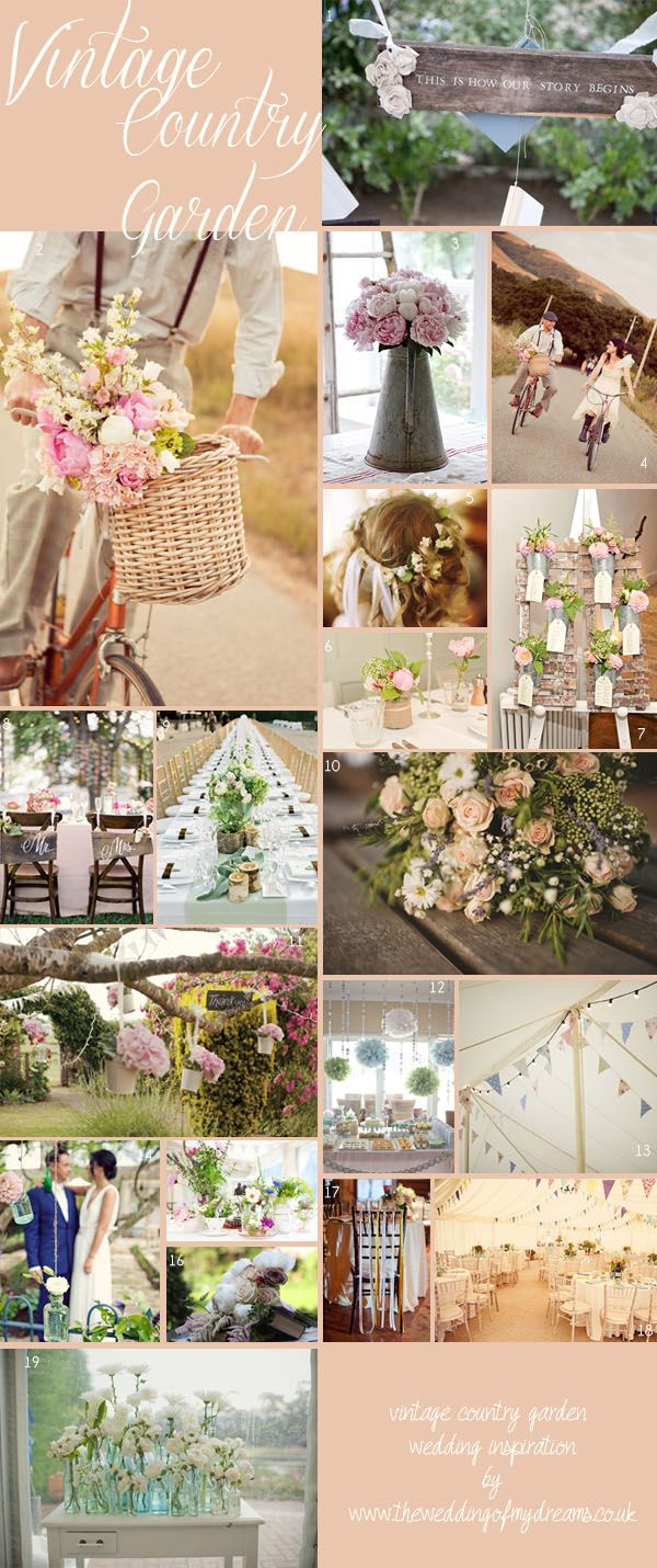 Vintage Country Garden Wedding ~ Wedding Themes #wedding #theweddingofmydreams