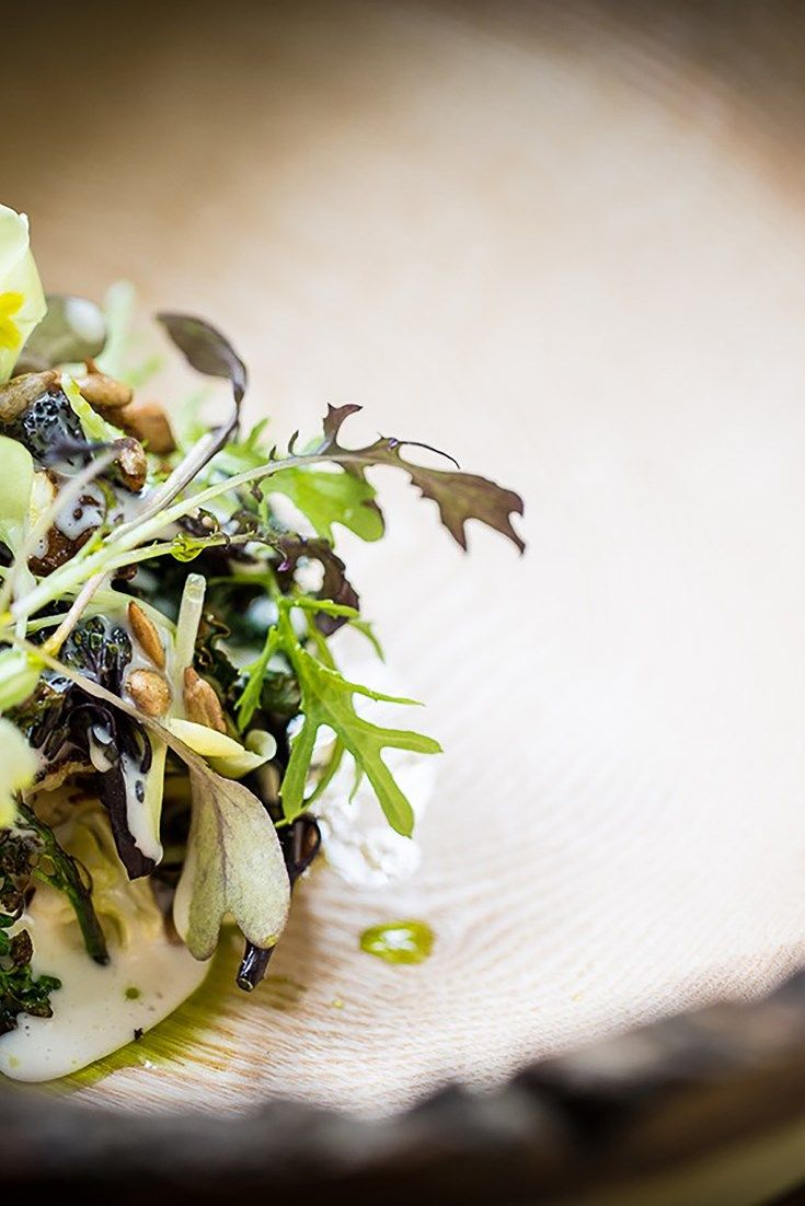 Simon Rogan's stunning grilled salad recipe takes the art of the barbecue to the next level.