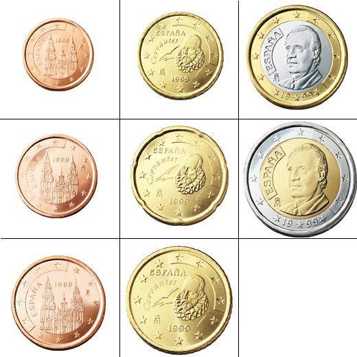 Currency in Spain  1.00 USD = 0.79 EUR 5.00 USD = 3.94 EUR 10.00 USD = 7.87 EUR 20.00 USD = 15.74 EUR 100.00 USD = 78.69 EUR 1,000.00 USD = 786.91 EUR