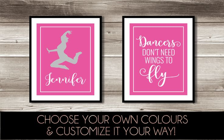 Dance Wall Art, Girl's Dance Bedroom Decor, Personalized Dance Print, Dancer Print Set, Digital Print; Dancers Don't Need Wings to Fly by ForEvaDesign on Etsy https://www.etsy.com/ca/listing/500669152/dance-wall-art-girls-dance-bedroom-decor