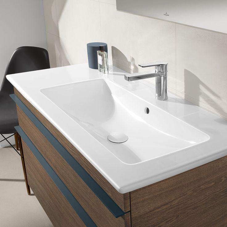Villeroy boch venticello vanity xxl in santana oak villeroy boch furniture colours for Villeroy and boch bathroom vanity units