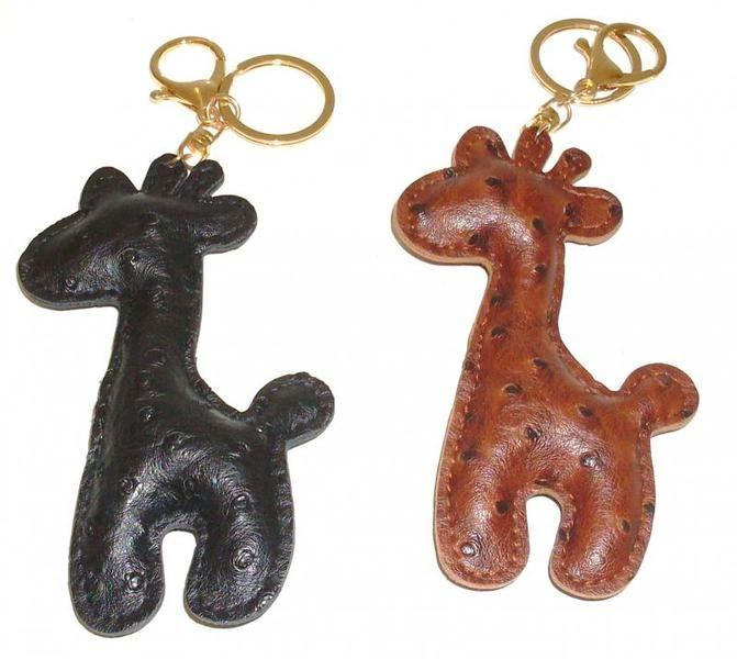 Giraffa Portachiavi in Pelle fatto a mano di Max Store Italia & I Gioielli di Vicky su DaWanda.com