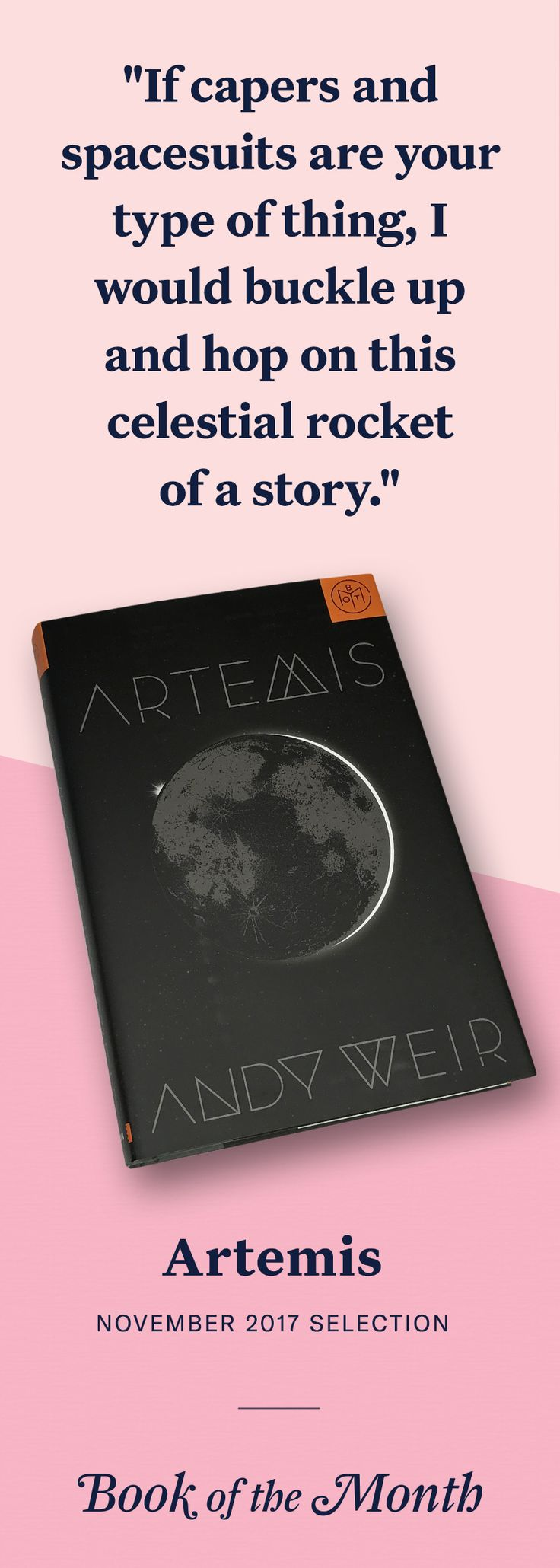 """Artemis"" is one of the best books of November 2017. Head to bookofthemonth.com to learn more and try your first month for free."