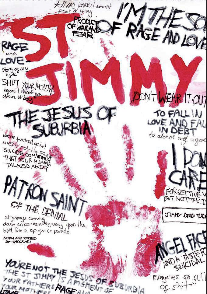 St Jimmy by runawayscar on deviantART. I did a research paper on this album in my freshman year of college, so it will always be special to me.