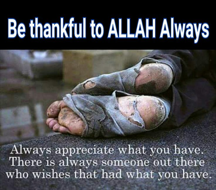 Be thankful for what we already have.Still have a human outside there want what we have