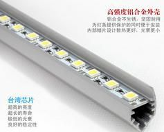 Fedex Free shipping 100pcs/lot Rigid Aluminum Led Strip 12V DC 25cm SMD5050 15SMD/pc For Cabinet  with aluminum housing