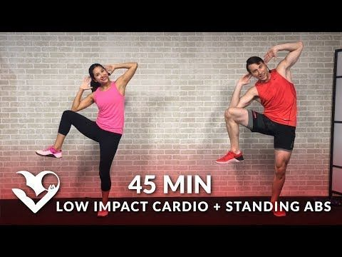 35 Min Standing Abs & Low Impact Cardio Workout for Beginners - Home Ab & Beginner Workout Routine - YouTube