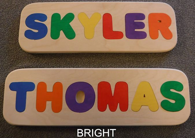 Wooden Name Puzzle - Handmade, name puzzle,  custom name puzzle, personalized puzzle,  wooden toys, wooden puzzle, puzzles for kids by SJAWoodesign on Etsy