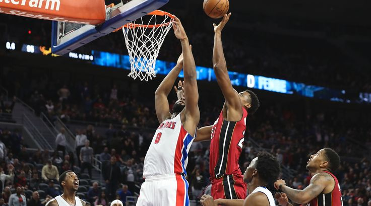 "Hassan Whiteside made the best tip-in of his NBA career on Tuesday night at the buzzer to beat the Pistons at The Palace, 97-96. It was a win the Heat, sitting at No. 8 in the East, desperately needed, and it was a magical moment for the whole team.  ""That was special,"" Whiteside...  http://usa.swengen.com/7-photos-of-heat-celebrating-buzzer-beater/"