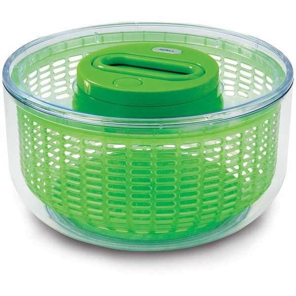 Zyliss Easy Spin Salad Spinner (Green) featuring polyvore, home, kitchen & dining, kitchen gadgets & tools, green, salad spinner, lettuce spinner, zyliss salad spinner and zyliss