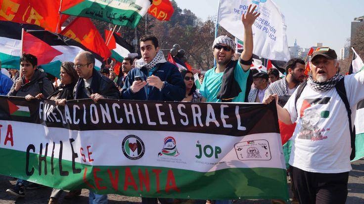 Comunidad palestina marchó contra la guerra en franja de gaza.