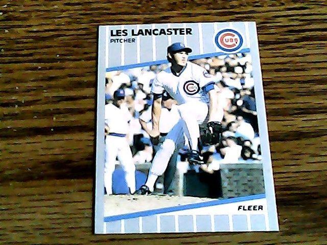 Fleer 1989 les lancaster cubs card 429