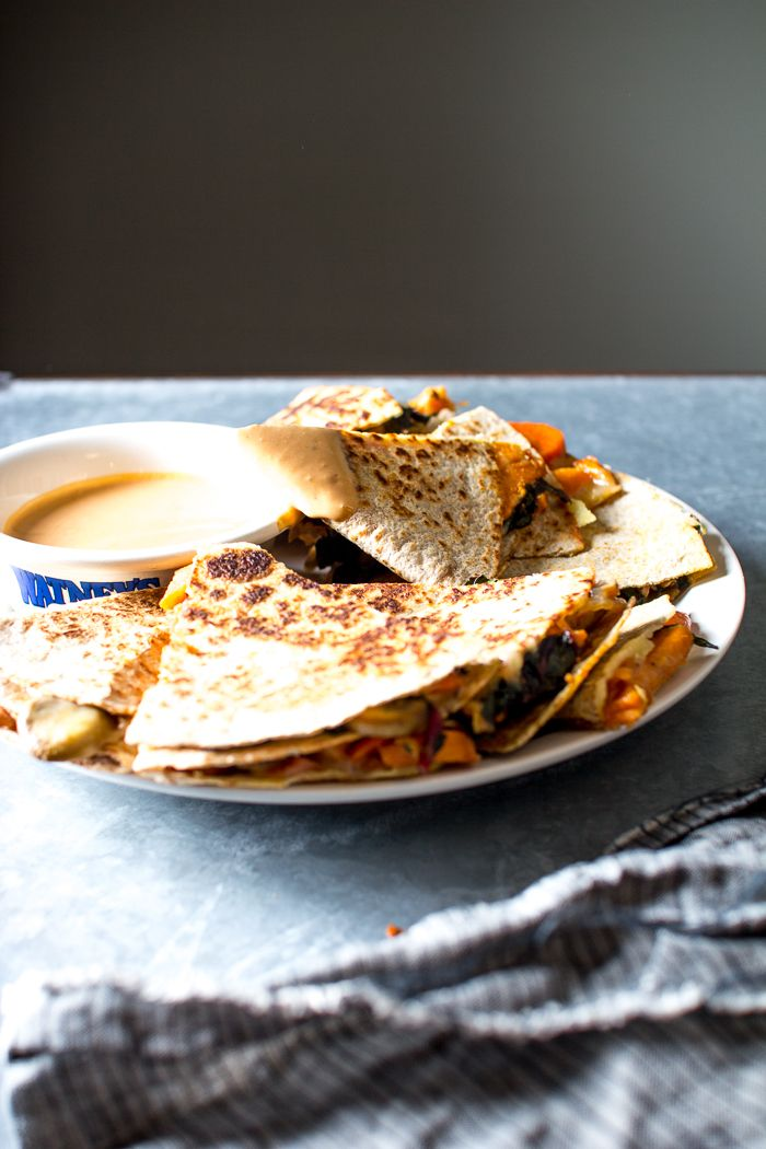 Veggie Quesadillas with a Tangy Chipotle Lime Sauce