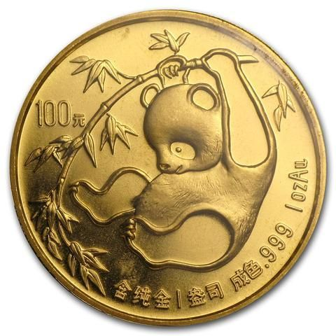 1985 1 Ounce Chinese Panda Gold Coin - Art in Coins
