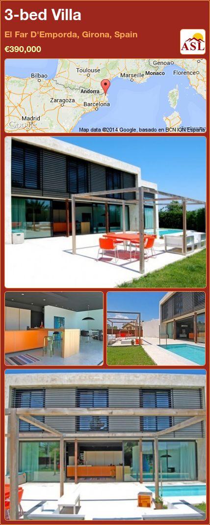 3-bed Villa in El Far D'Emporda, Girona, Spain ►€390,000 #PropertyForSaleInSpain