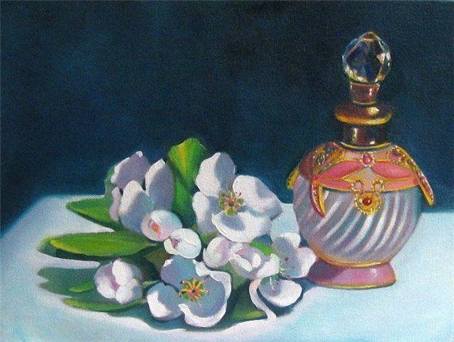 Линда МакКой Цветы персика и флакон с духами