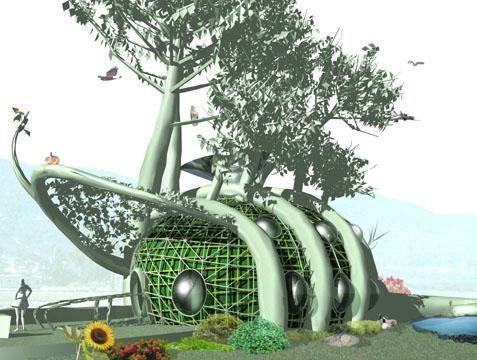 plano: de una casa para climas desérticos para pocas personas con un diseño no muy conocido