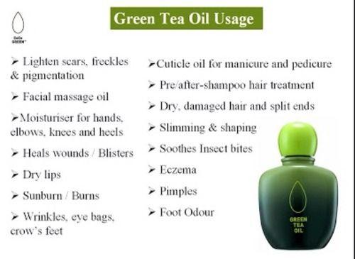 Green Tea Oil Usage