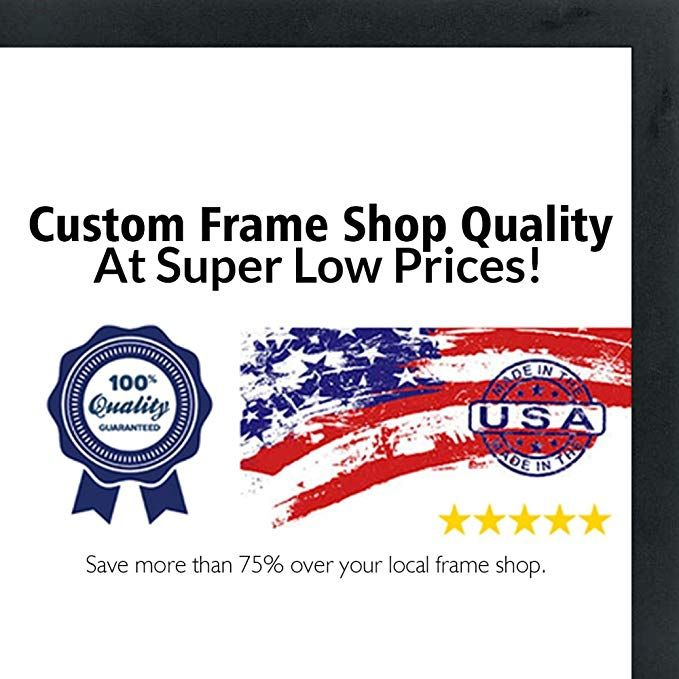 13x39 Contemporary Black Wood Picture Panoramic Frame Uv Acrylic Foam Board Backing Hanging Hardware In Picture On Wood Wood Picture Frames Wood Shadow Box