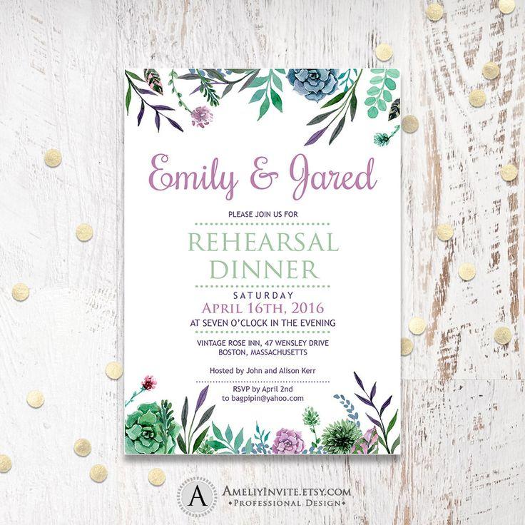Printable rehearsal dinner invitation rehearsal by AmeliyInvite