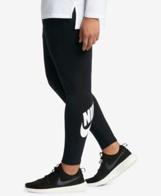 Nike Plus Size Sportswear Dri-FIT Logo Leggings | macys.com