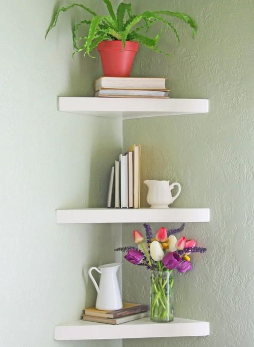 25 b sta floating corner shelves id erna p pinterest for Build your own corner bookcase