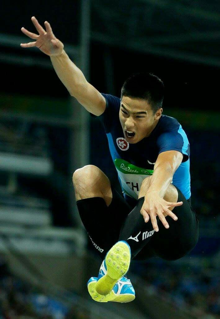 RIO DE JANEIRO, BRAZIL - AUGUST 12: Ming Tai Chan of Hong Kong, China competes in the Men's Long Jump qualification on Day 7 of the Rio 2016 Olympic Games at the Olympic Stadium on August 12, 2016 in Rio de Janeiro, Brazil. (Photo by Jamie Squire/Getty Images)