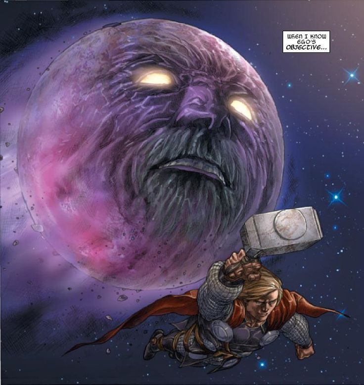 Ego the Living Planet and Thor Odinson