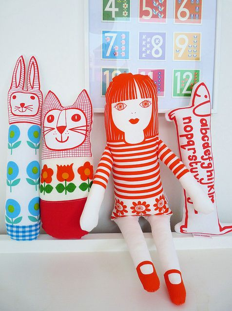 Some of my handmade screen printed toys