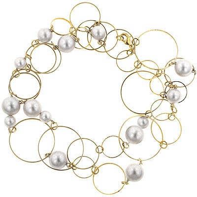 Wore this with work, or decide to jazz up my outfit. Gold hoops with natural pearls can go with anything