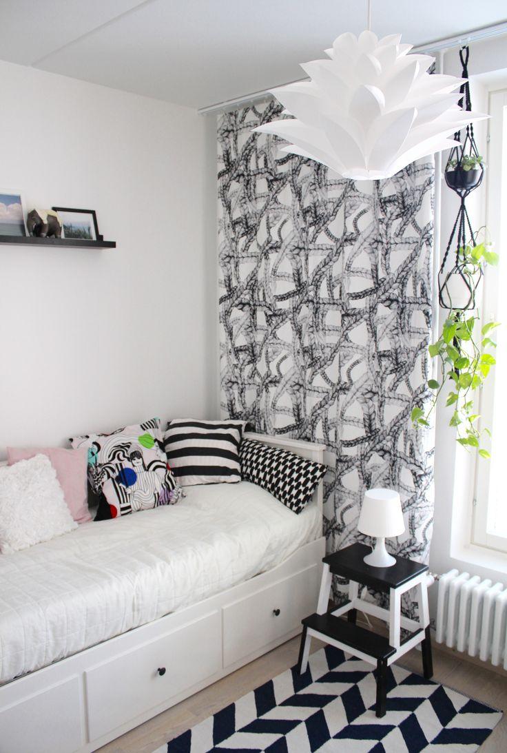 Letti curtain by Vimma Company / Hemnes daybed / Ikea Bekväm step stool