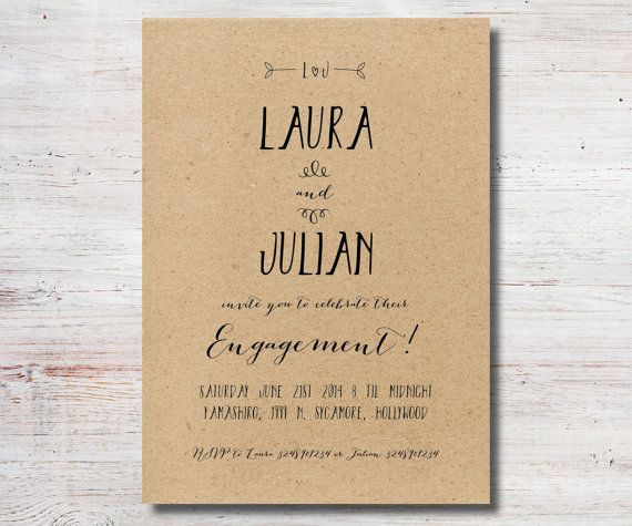 Printable engagement party invitation we 39 re engaged for Etsy engagement party invites