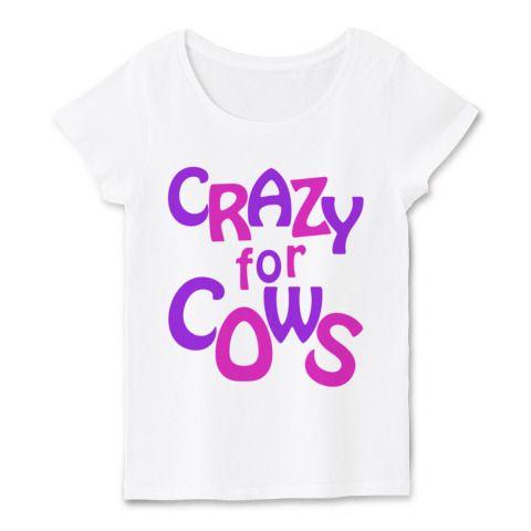 CRAZY for COWS(ピンク紫) | デザインTシャツ通販 T-SHIRTS TRINITY(Tシャツトリニティ)