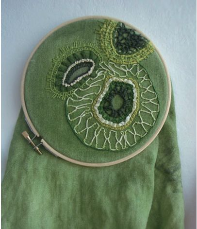 Figure 3 : embroidering the microscopic world | Mia Weiner