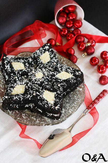 Ricetta torta stella di natale al doppio cioccolato