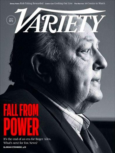 Variety Magazine July 20, 2016 ROGER AILES Fox News, Dan Rather, Rizzoli & Isles