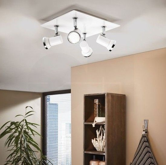 Σποτ φωτιστικό μπάνιου πολύφωτο (τετράφωτο), τεχνολογίας LED, κατανάλωσης 10W, στεγανό IP44, με βάση σε τετράγωνο σχήμα από ατσάλι και λευκό γυαλί και λεπτομέρειες σε χρώμιο. TAMARA 1 από την Eglo. -------------------------------- Spot light, LED technology, IP44 waterproof, square-shaped base made of steel and white glass with details in chrome color. #papantoniougr #bathroom #bathroomdesign #bathroomlight #bathroomdecor #bathroomgoals  #decor #homedecor #bathroomideas