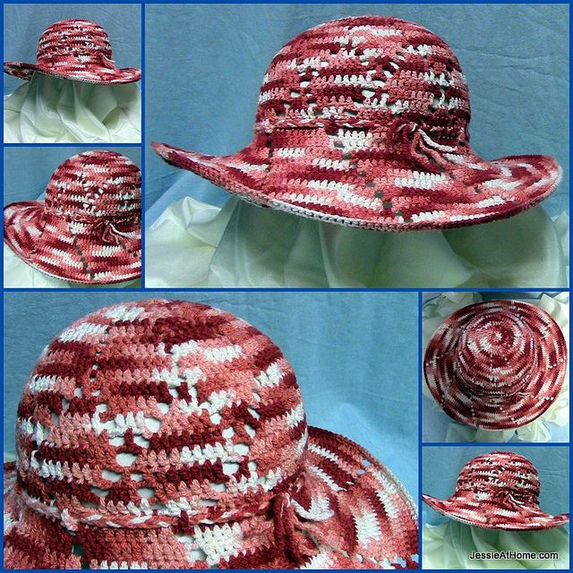 Here is a summer sun hat for you to make and enjoy! Keep safe and be fashionable, all at the same time. The slight stretch of the yarn helps...