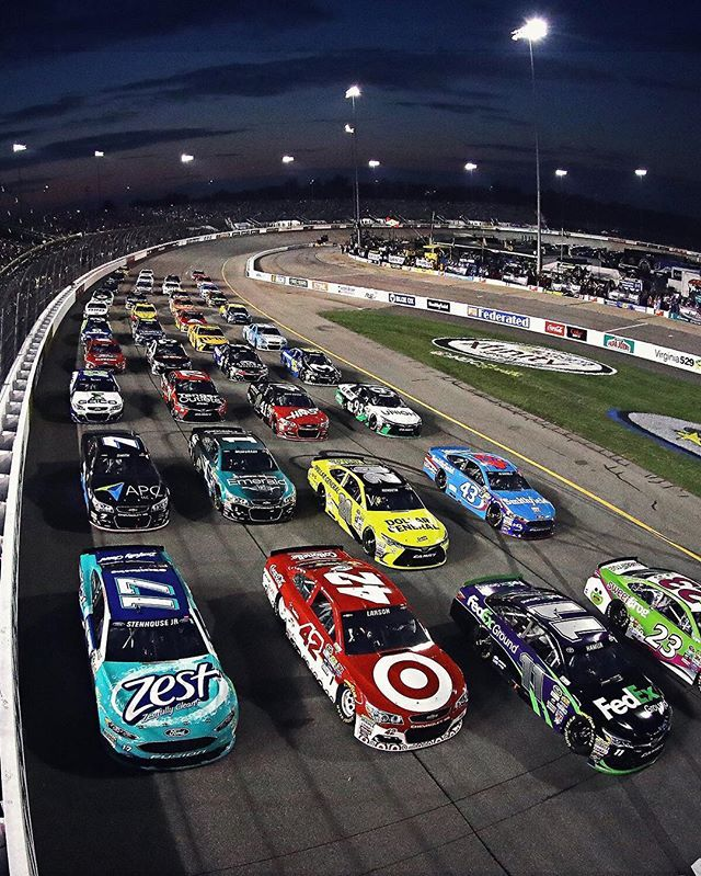Four-wide for the fans! #ThanksFans #NASCAR                                                                                                                                                                                 More