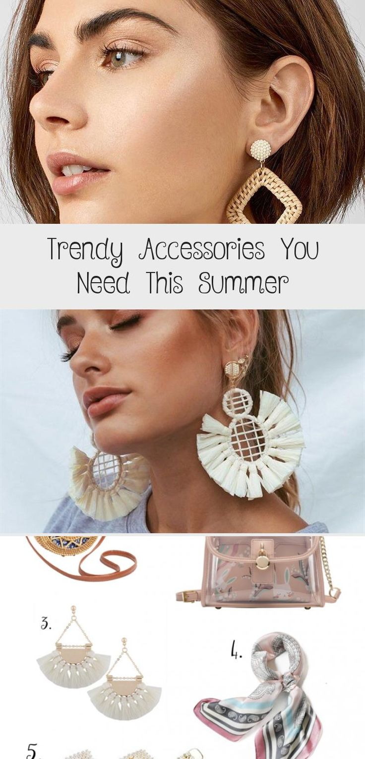 Trendy Accessories You Need this Summer - thatgirlArlene #summerhairstyles2019 #summerhairstylesBalayage #summerhairstylesStraight #summerhairstylesColor #summerhairstylesOver40