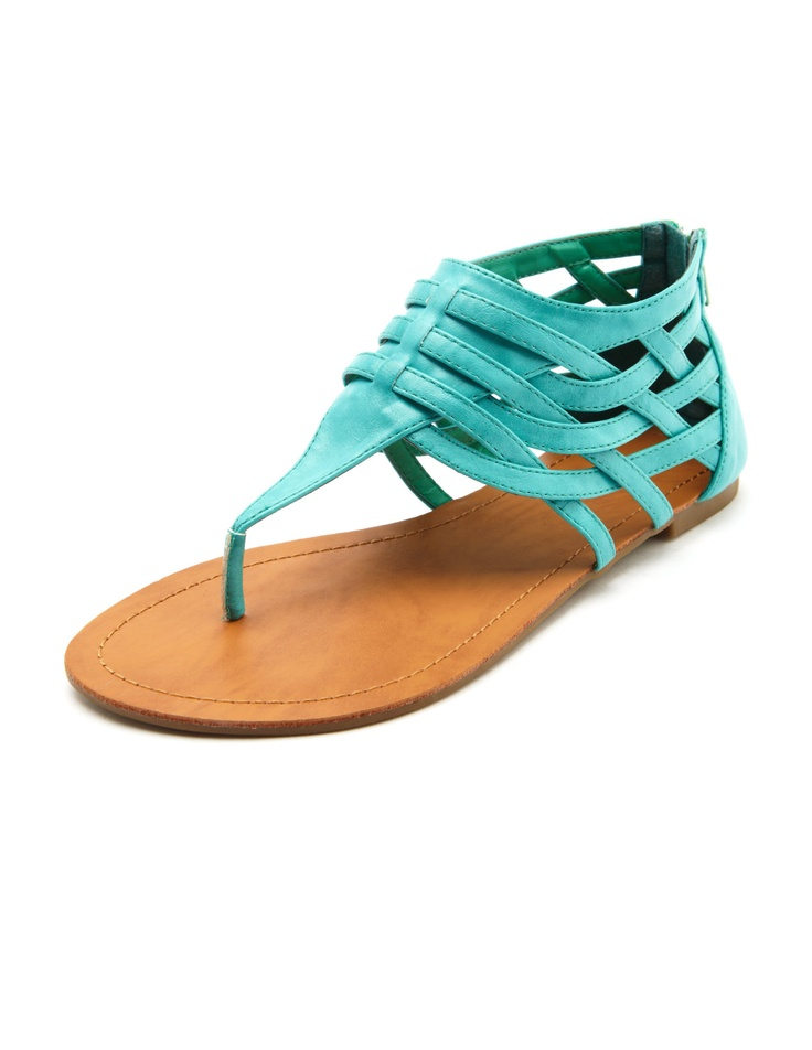 Woven Ankle-Wrap SandalAnkle Wraps Sandals, Fashion, Style, Turquois Sandals, Charlotte Russe, Anklewrap Sandals, Woven Ankle Wraps, Shoes Obsession, Dreams Closets