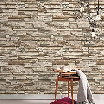 Stacked Stone Repositionable and Removable Peel and Stick