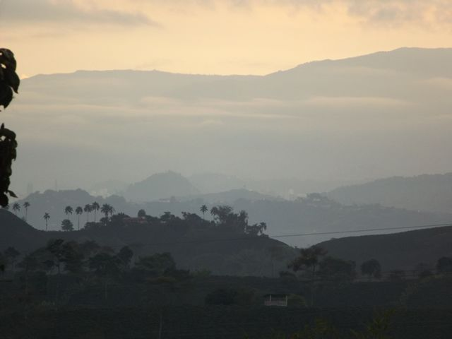We began our trip to Nevado del Ruiz at Chinchina. This was the view at 5:30 am... www.colombiatravelmagazine.com