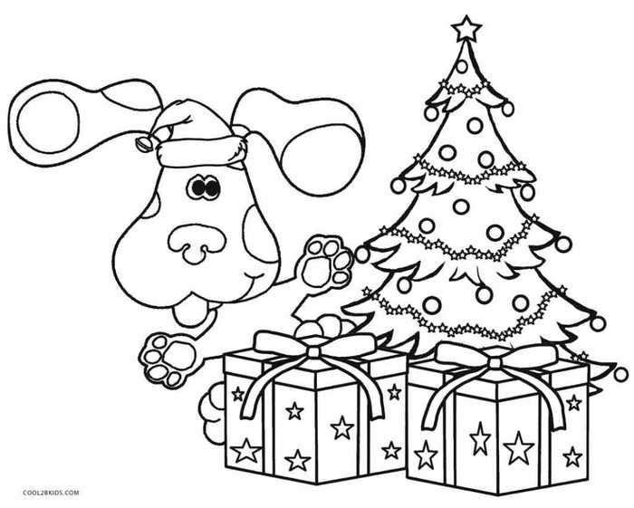 Blues Clues Christmas Presents Coloring Page Christmas Present Coloring Pages Coloring Pages For Kids Coloring Pages