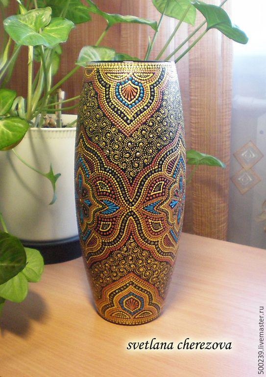 """Купить Ваза """"Царская особа"""" - золотой, ваза, ваза для цветов, ваза декоративная, ваза для сухоцветов"""